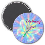 Pastel butterfly refrigerator magnet