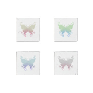 Pastel Butterfly Silhouettes - Magnet Set
