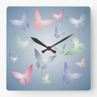 Pastel Butterfly Wall Clock