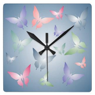 Pastel Butterfly Wall Clock