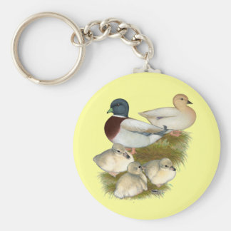 Pastel Call Duck Family Key Chains