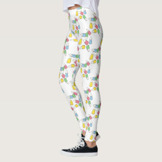 Pastel Candy Corn Easter Basket Candy Leggings