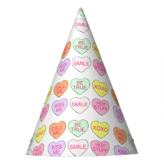 Pastel Candy Heart Valentine's Day Hearts Candies Party Hat
