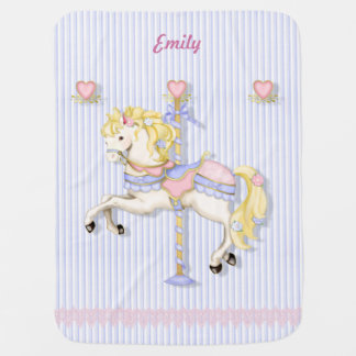 Pastel Carousel Pony Buggy Blankets