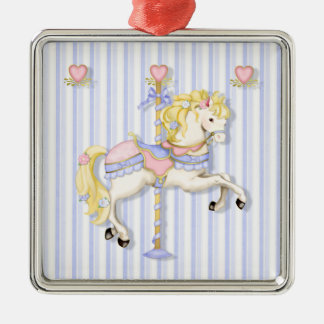 Pastel Carousel Pony Christmas Ornament