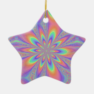 Pastel Chains Pattern Christmas Ornament