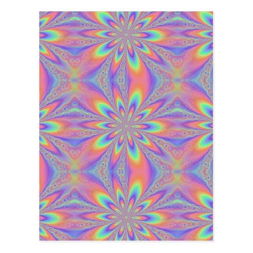Pastel Chains Pattern Postcard