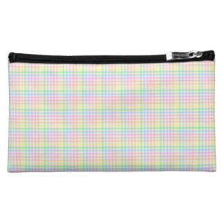 Pastel Checkerboard Cosmetic Bags