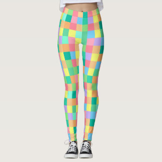 Pastel Checks Leggings