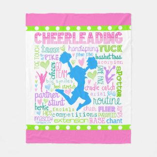 Pastel Cheerleading Words Typography Fleece Blanket