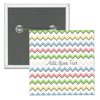 Pastel Chevron-Drop Shadow by Shirley Taylor 15 Cm Square Badge