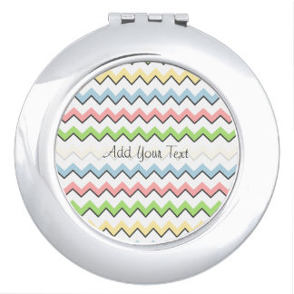 Pastel Chevron-Drop Shadow by Shirley Taylor Travel Mirrors