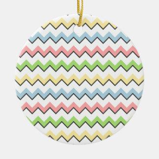 Pastel Chevron-Drop Shadow Ornaments