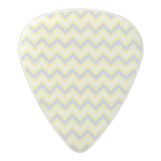 Pastel Chevron Pattern Acetal Guitar Pick