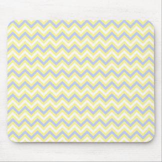 Pastel Chevron Pattern Mouse Pad