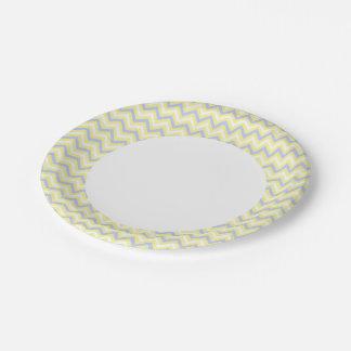 Pastel Chevron Pattern Paper Plate