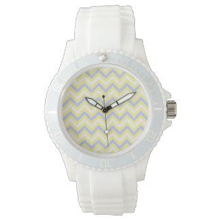 Pastel Chevron Pattern Wristwatch