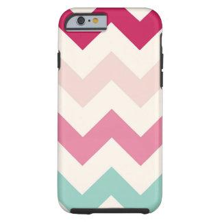 Pastel chevron zigzag nautical zig zag pattern tough iPhone 6 case