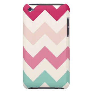 Pastel chevron zigzag stripes zig zag pattern chic Case-Mate iPod touch case