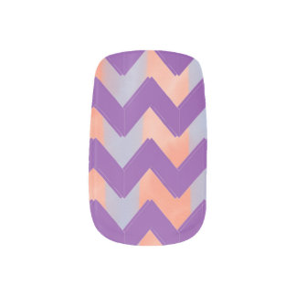 Pastel Chevrons Minx Nail Art