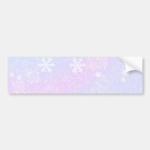 Pastel Christmas Pinks Bumper Sticker