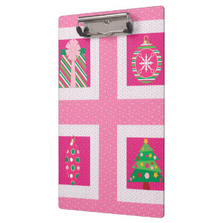 Pastel Christmas Squares Clipboard
