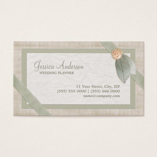 Pastel Collage Wedding Planner business card