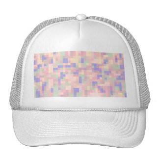 Pastel Color Abstract Design Mesh Hats
