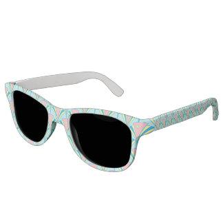 Pastel Color Art Deco Pattern Sunglasses