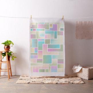 Pastel Color Blocks Design Fabric Material