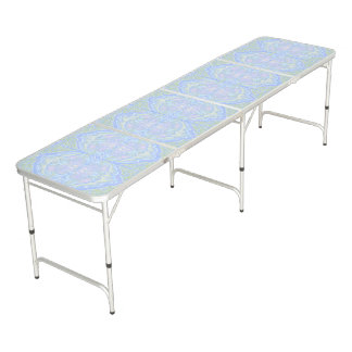 Pastel Color Flow Pattern Pong Table