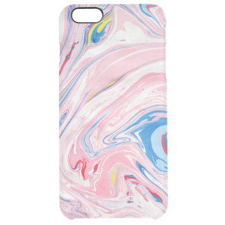 Pastel Color Marble Swirls Clear iPhone 6 Plus Case