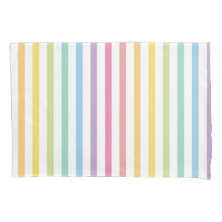 Pastel Color Rainbow Stripes Pattern Pillowcase