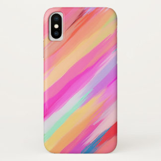 Pastel Colored Abstract Background #11 iPhone X Case