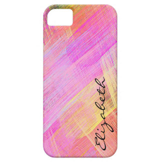 Pastel Colored Abstract Monogram 2 iPhone 5/5S Cover