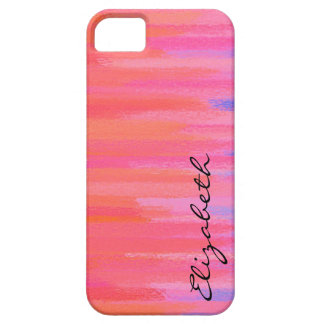 Pastel Colored Abstract Monogram 3 iPhone 5 Cover