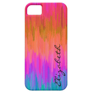 Pastel Colored Abstract Monogram 5 iPhone 5 Covers