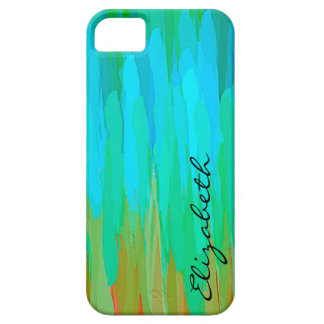 Pastel Colored Abstract Monogram 6 iPhone 5/5S Cover