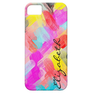 Pastel Colored Abstract Monogram iPhone 5 Cases