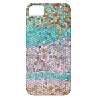 Pastel-colored, abstract, mosaic design iPhone 5 cover