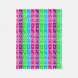 Pastel Colored Dominoes Fleece Blanket