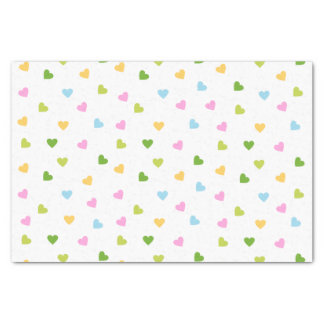 Pastel Colored Hearts Tissue Paper