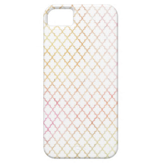 Pastel Colored Modern Quatrefoil iPhone 5/5s Case For The iPhone 5