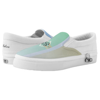 Pastel Colored Monogram Printed Shoes