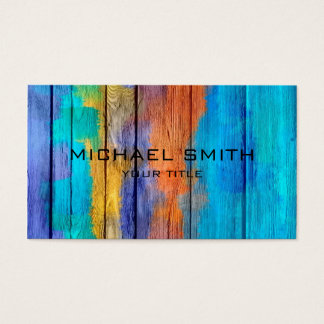 Pastel Colored on Wood #10 Business Card