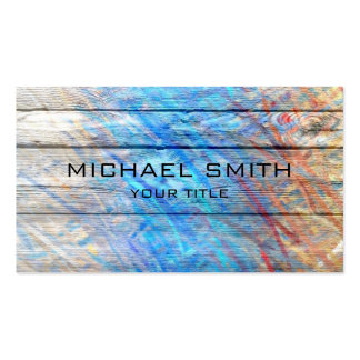 Pastel Colored on Wood #2 Pack Of Standard Business Cards