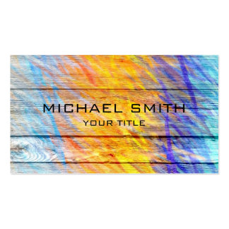 Pastel Colored on Wood #6 Pack Of Standard Business Cards