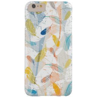 Pastel Colorful Abstract Feathers Pattern Barely There iPhone 6 Plus Case