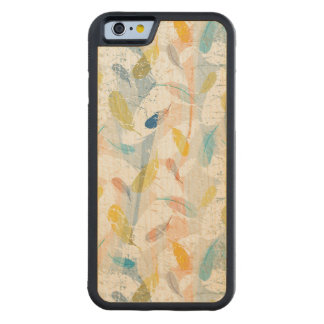 Pastel Colorful Abstract Feathers Pattern Maple iPhone 6 Bumper