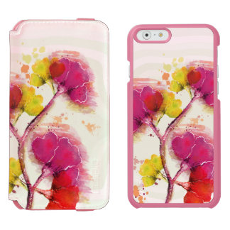 Pastel Colorful Flowers Incipio Watson™ iPhone 6 Wallet Case